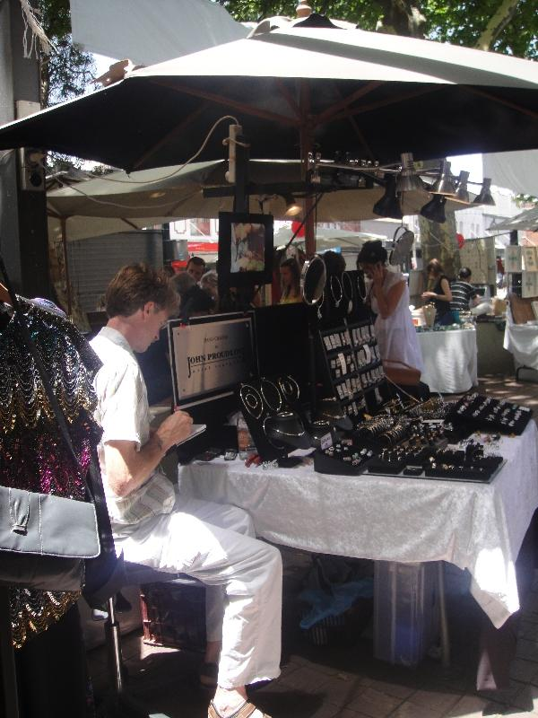 Jewelry at the Paddington Market, Sydney Australia