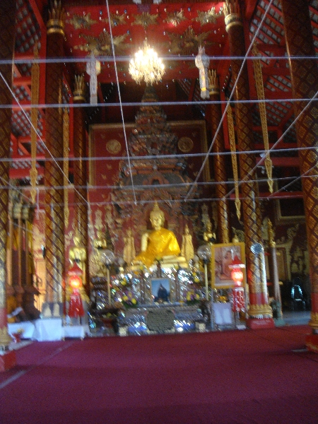 Inside the Ubosoth, Chiang Mai Thailand