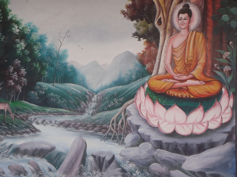 Mural Paintings at Wat Pan Ping, Chiang Mai Thailand