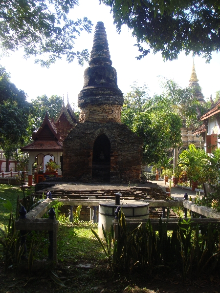 The Chedi remains of Wat Pan Ping, Thailand
