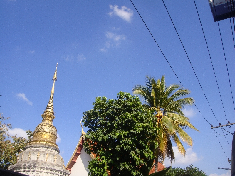 Golden upper chedi, Thailand
