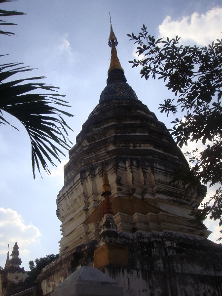 Upper Chedi of Lam Chang temple, Chiang Mai Thailand