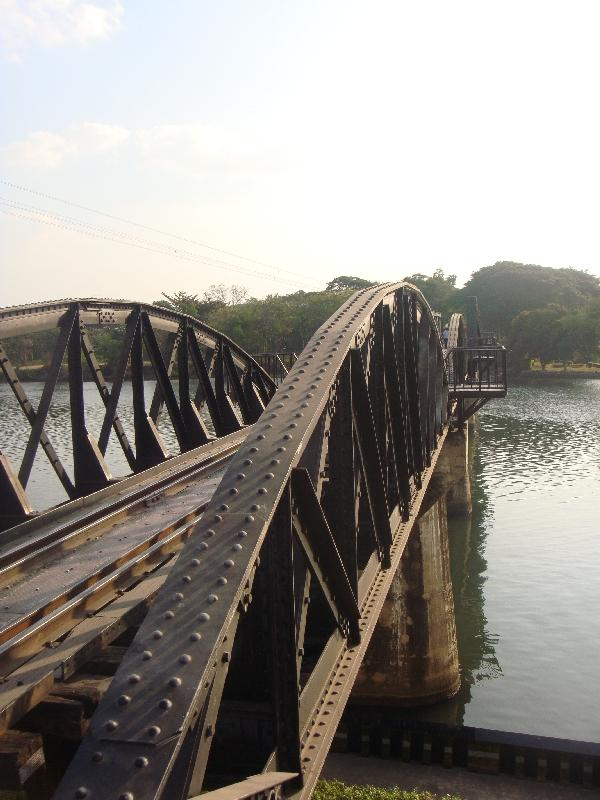 The River Kwai Bridge in Kanchanaburi, Kanchanaburi Thailand