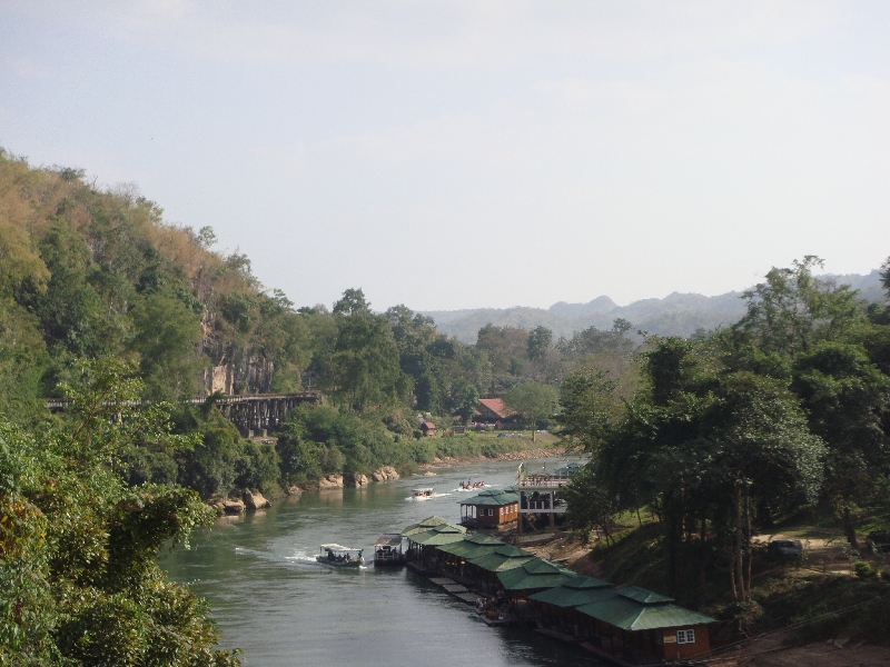 Panoramic pictyre River Kwai, Thailand