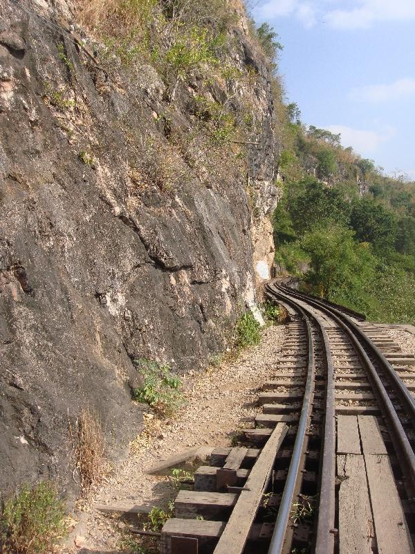 Kanchanaburi Thailand Death Railway Track