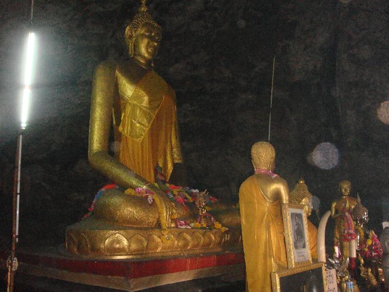 Buddha Statue Krasae Cave Temple, Kanchanaburi Thailand