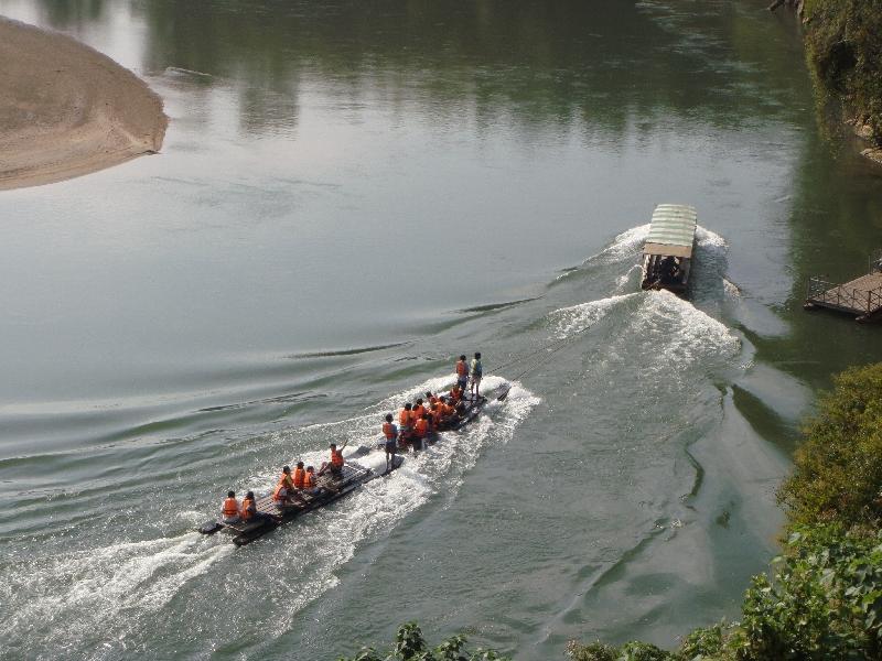 Kanchanaburi Thailand Rafting River Kwai