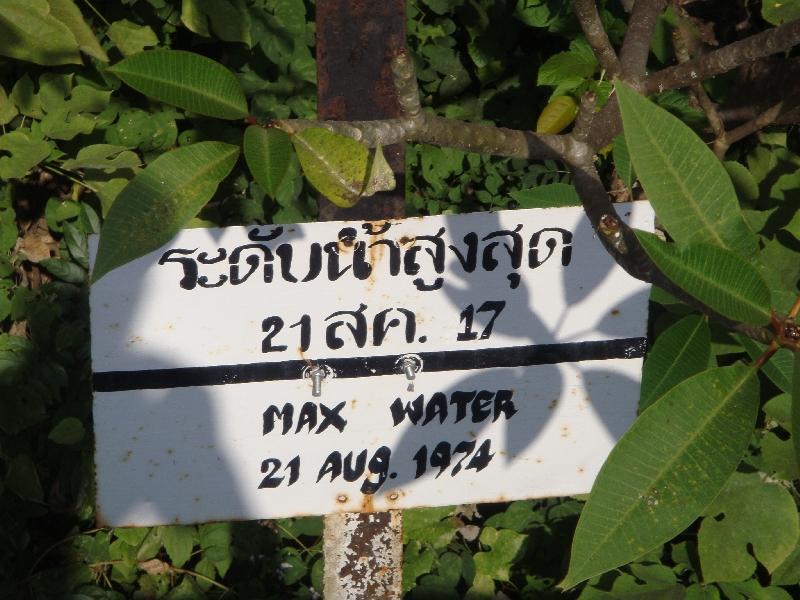 Water level River Kwai, Kanchanaburi Thailand