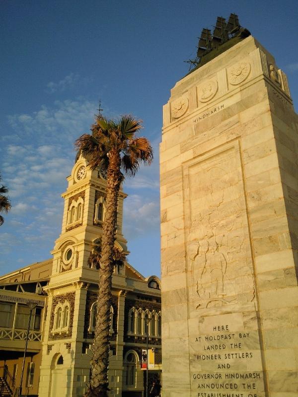 Monument Glenelg esplanade, Australia