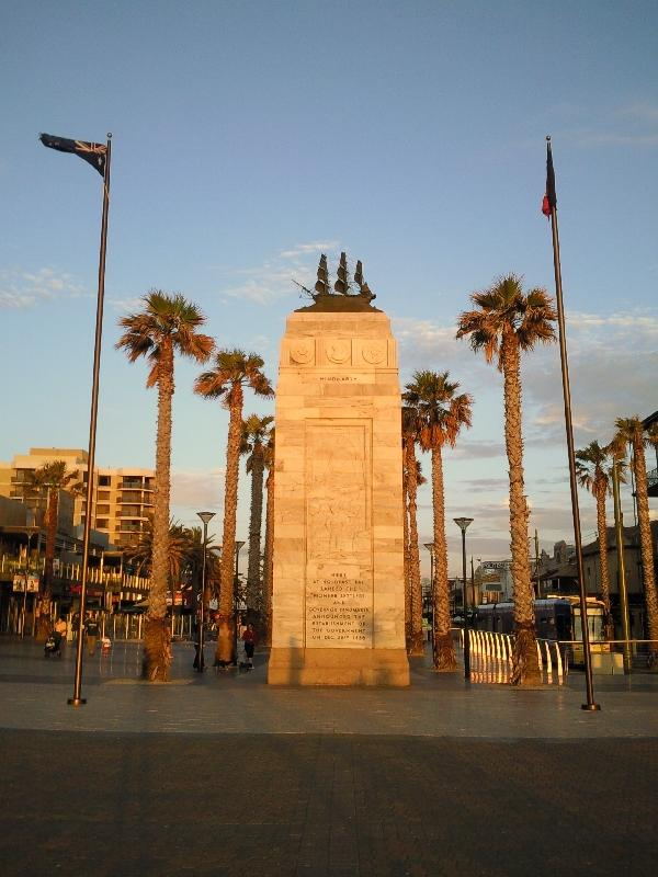 European settlement monument, Adelaide Australia