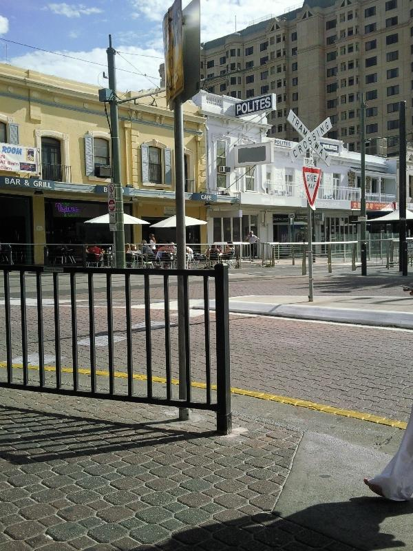 The tram station in Glenelg, Adelaide Australia