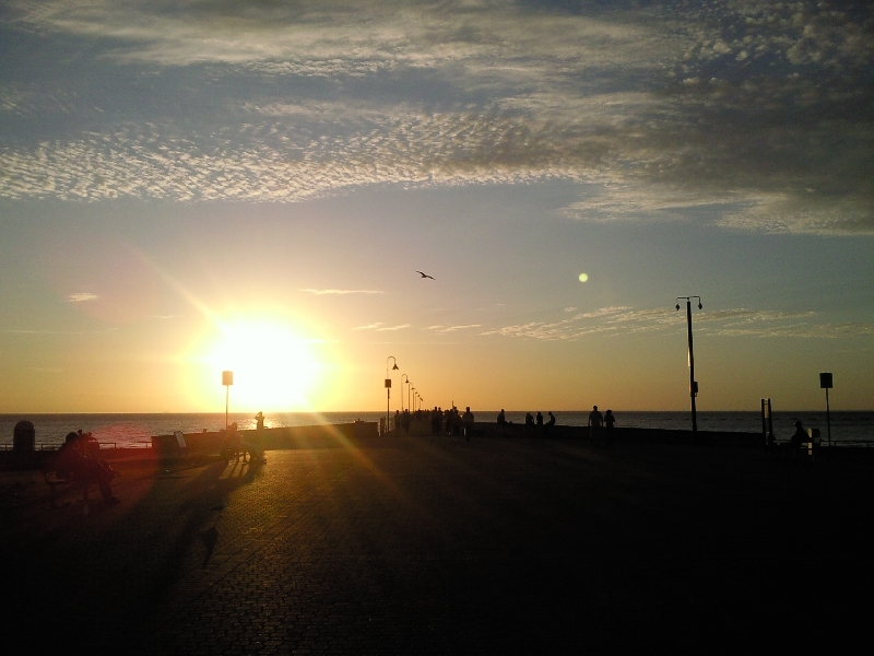 Sunset over Glenelg, Adelaide, Australia