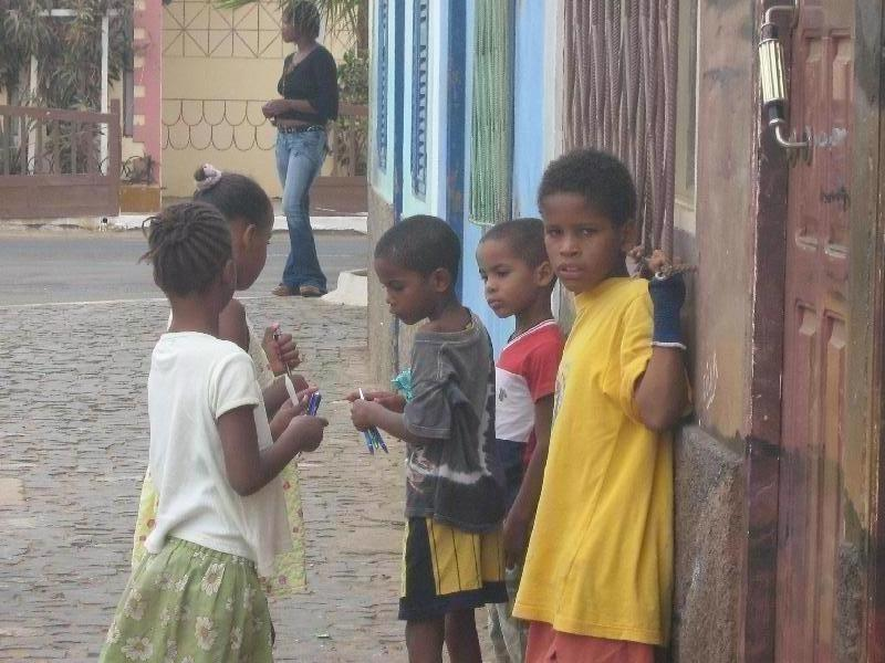 The children of Villa dos Espargos Cape Verde Review Photograph