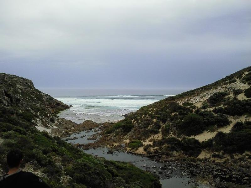 The meandering into the ocean, Kangaroo Island Australia