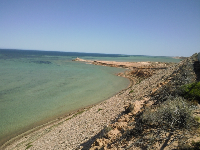 Shark Bay Australia Panorama at Eagle Bluff, Shark Bay