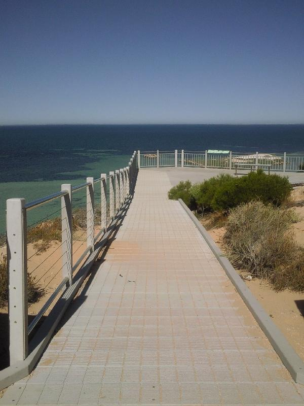 The boardwalk around Eagle Bluff, Shark Bay Australia