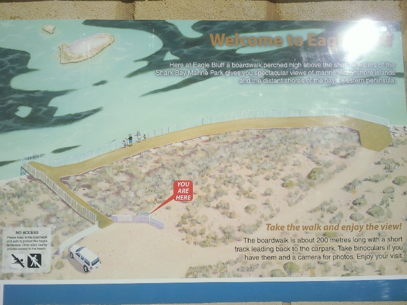 A Map of Shark Bay at Eagle Bluff, Shark Bay Australia