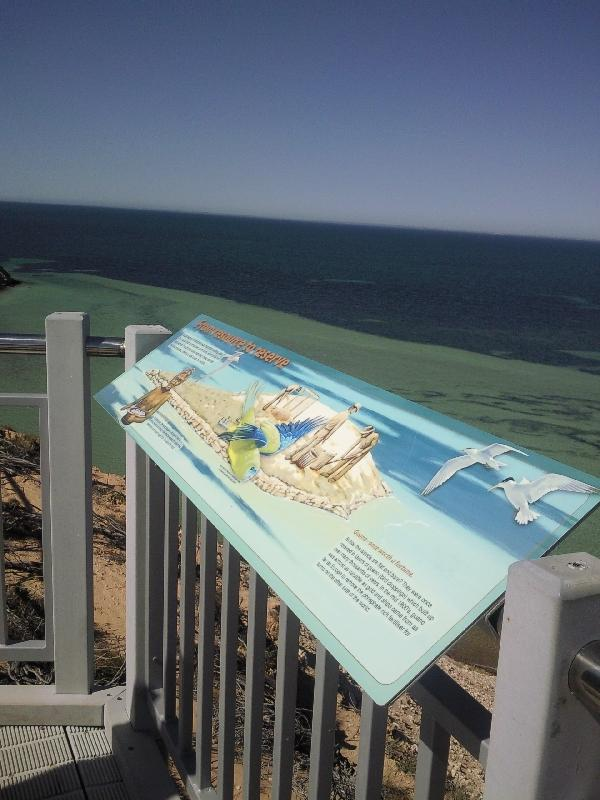 Shark Bay Australia Information panels at Eagle Bluff