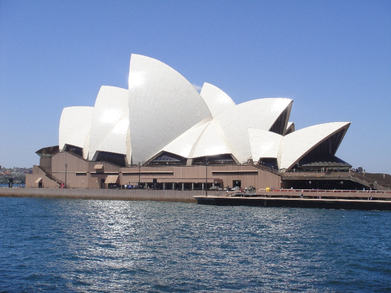 The Sydney Opera House from ferry, Sydney Australia