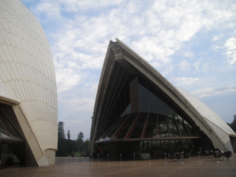 Opera House and adjacent restaurant , Sydney Australia