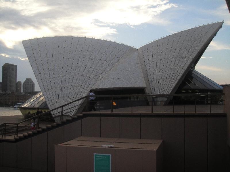 Side angle Opera House, Sydney Australia
