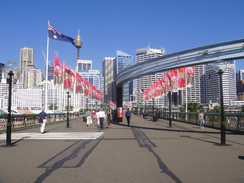 Pictures of Pyrmont Bridge, Sydney Australia