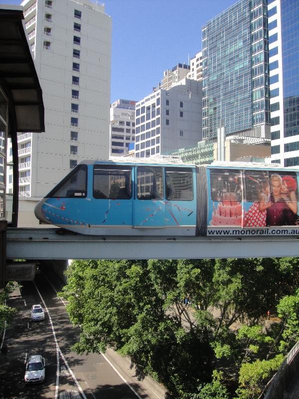 Sydney sky train, monorail, Sydney Australia