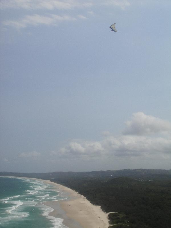 Hang gliding over Cape Byron, Australia
