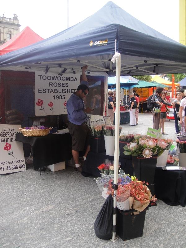 Wednesday markets on Queen St, Brisbane Australia
