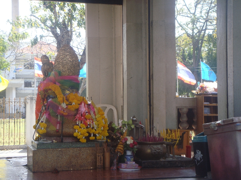Buddhist statues in Kanchanaburi, Thailand