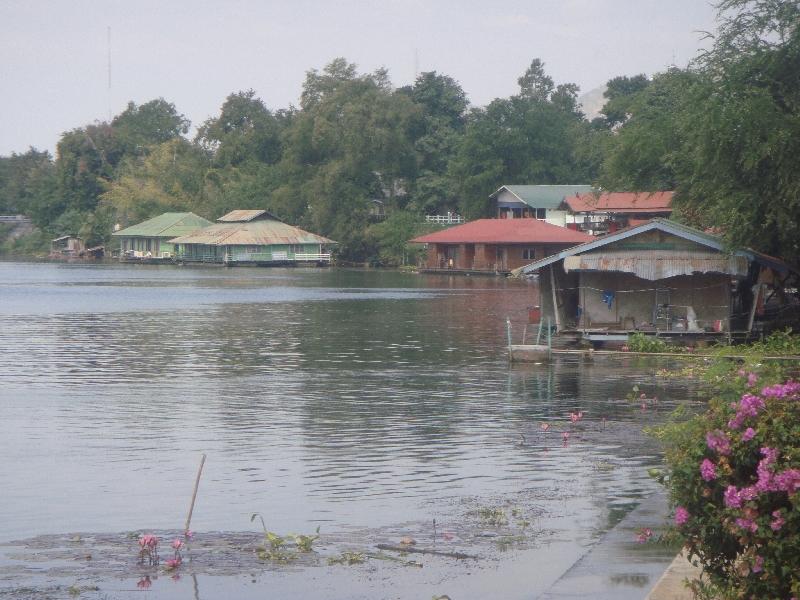 Kanchanaburi Thailand River houses in Kanchanaburi