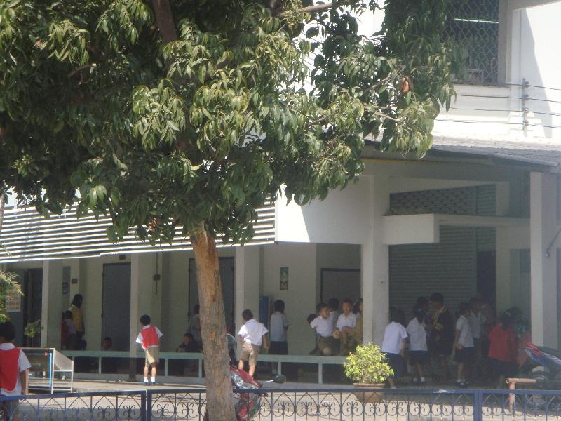 Elementary school in Kanchanaburi, Thailand