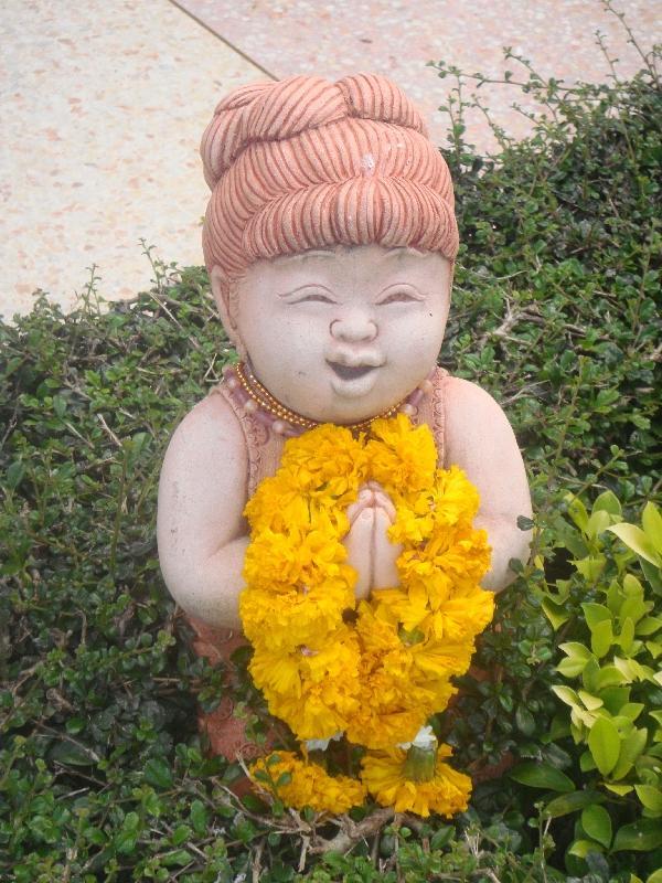Chinese statues in Kanchanaburi, Thailand