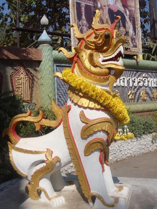 Chinese Temple in Kanchanaburi, Kanchanaburi Thailand