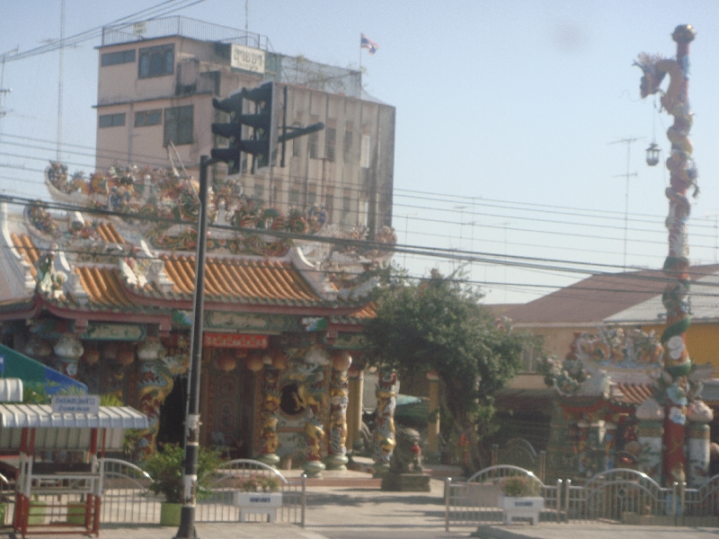 Temples alongside the road, Thailand