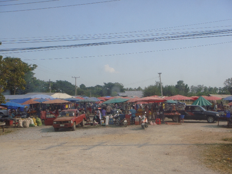 Thai market alongside the road, Ayutthaya Thailand