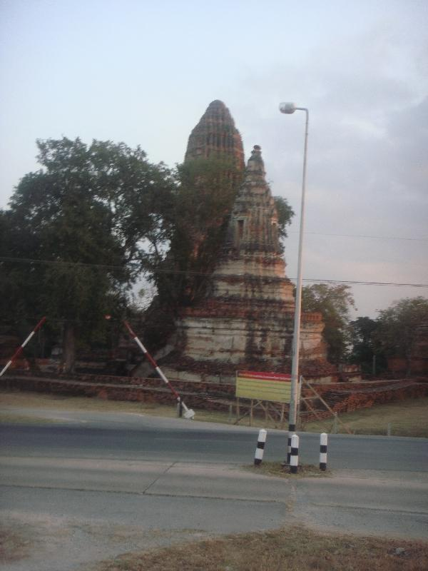 Old ruins entering Ayutthaya, Thailand
