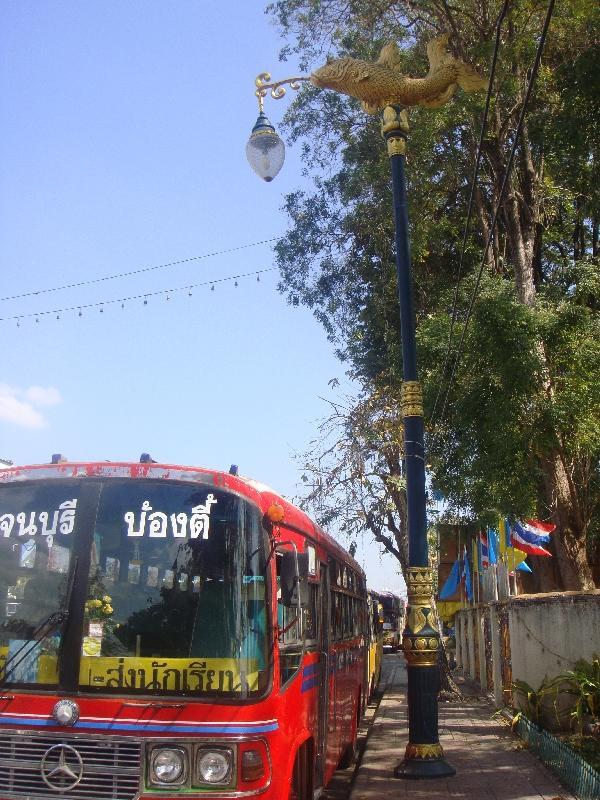 Bus in Kanchanaburi, Ayutthaya Thailand