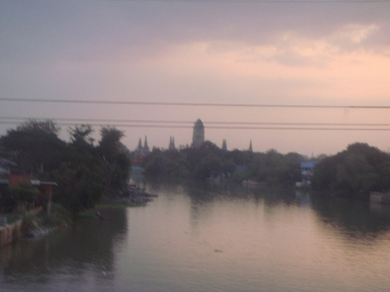 Entering the city of Ayutthaya, Thailand