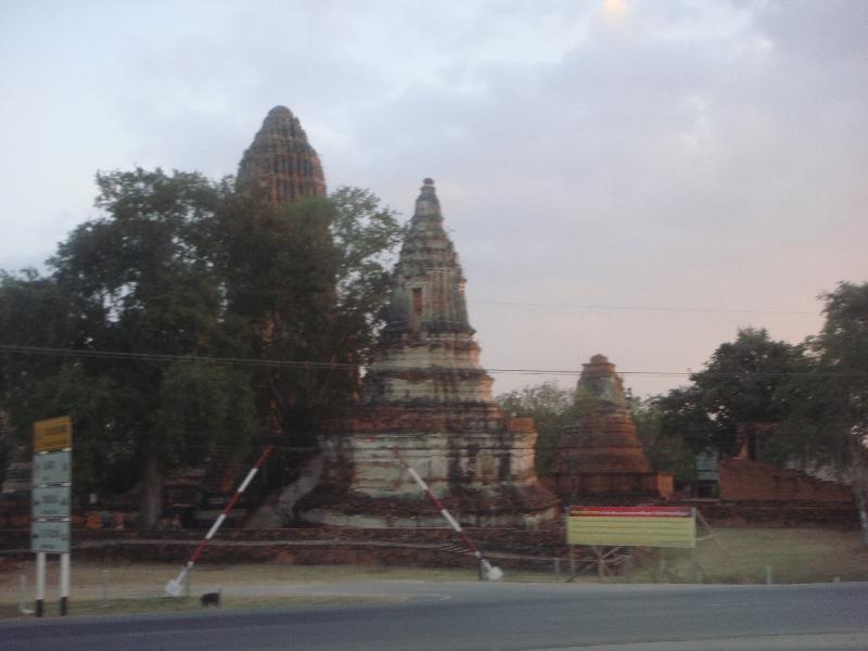 Buddhist temple ruins in Ayutthaya, Thailand