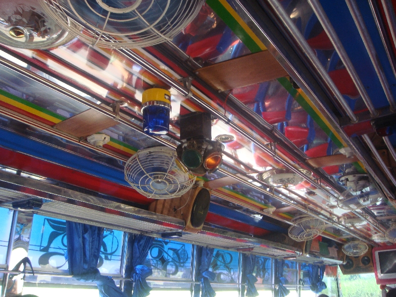 Bus from Kanchanaburi to Ayutthaya, Thailand
