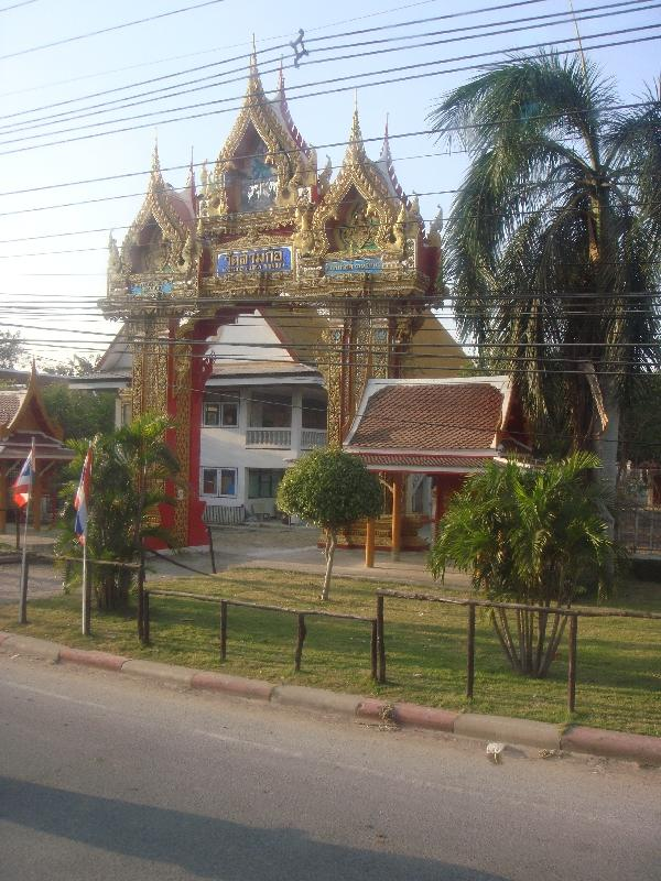 Buddhist temple from the bus, Thailand