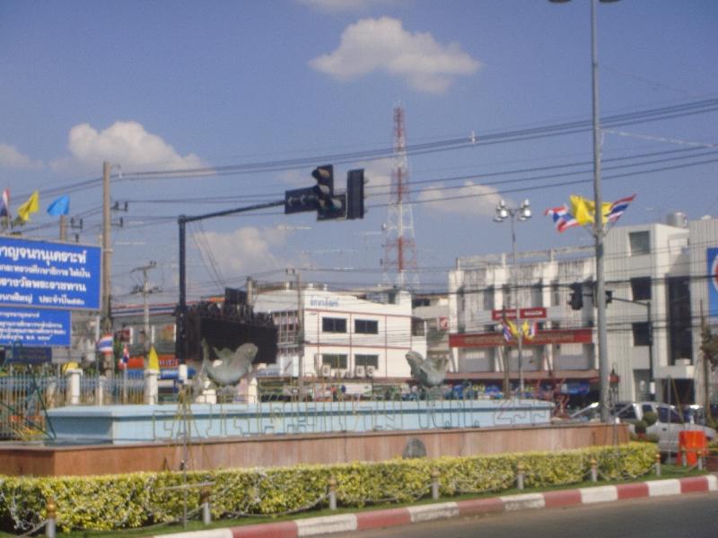 Leaving Kanchanaburi by bus, Thailand