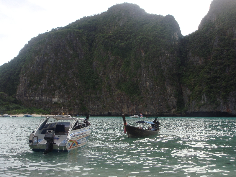 Longtail boats on Ko Phi Phi Ko Phi Phi Don Thailand Asia