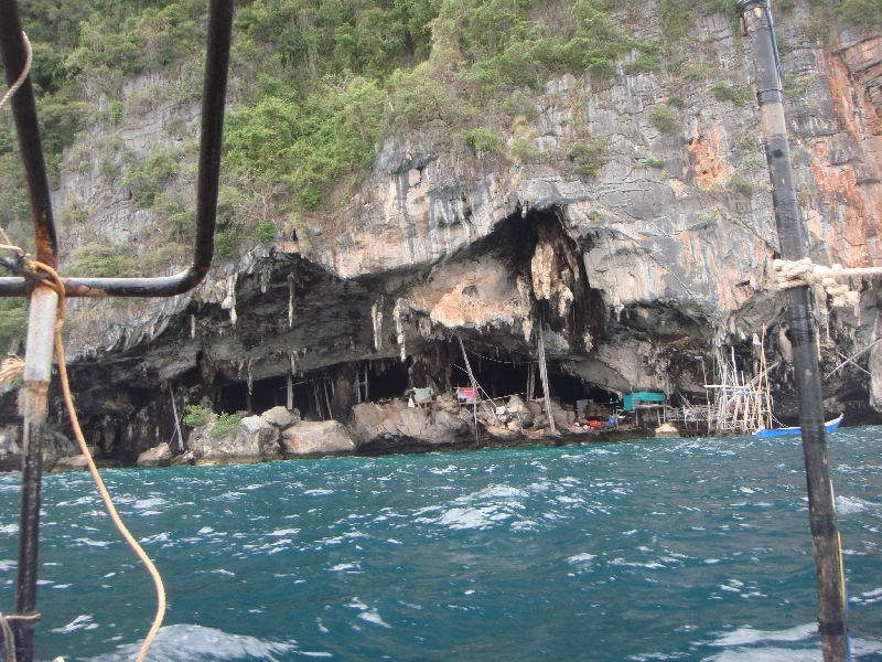 The bird nests cave of Ko Phi Phi Leh, Thailand