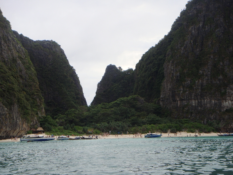 The beach of Maya Bay, Ko Phi Phi Don Thailand