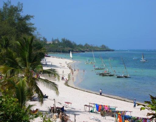 Shanzu Beach in Mombasa, Kenya