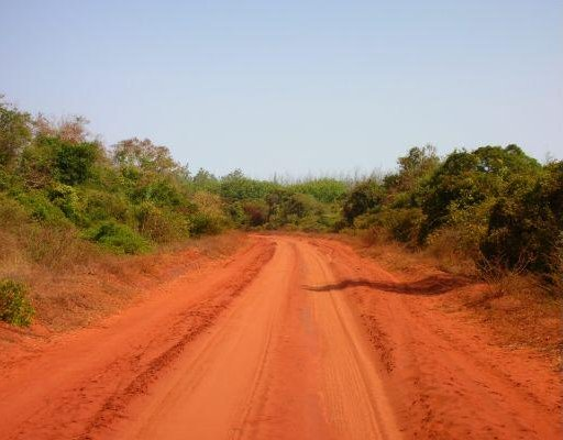 Mombasa Kenya Red dust road in Kenya