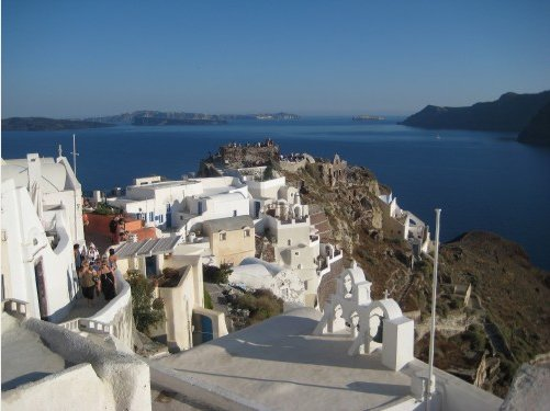 Volcanic island of Thira, Santorini, Greece