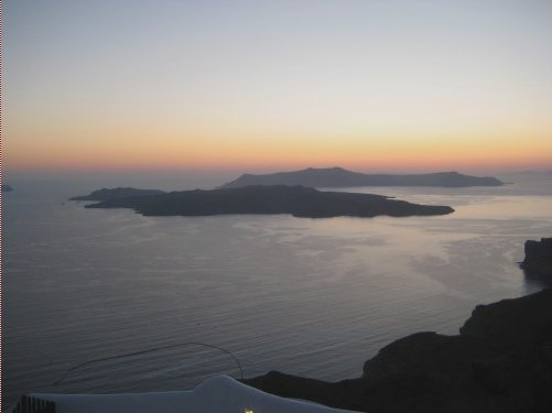 Sunset over Oia, Santorini Santorini Greece Europe